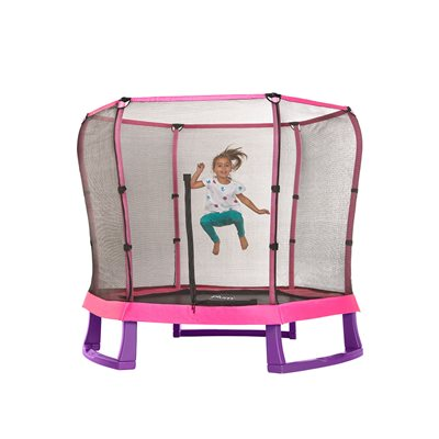 PLUM 7FT JUNIOR JUMPER TRAMPOLINE in Pink and Purple