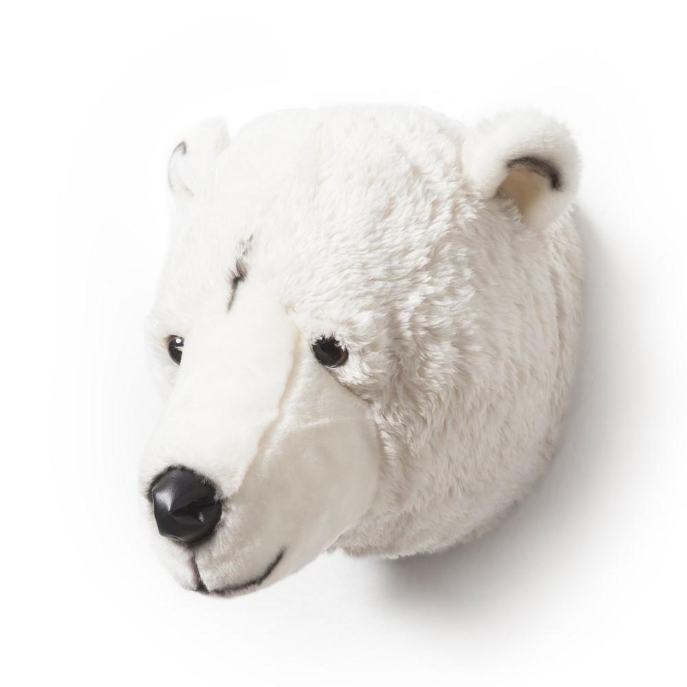 Kids Polar Bear Plush Animal Head Wall Decor Wild Amp Soft
