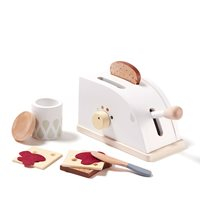 Children's Wooden Toy Toaster Set