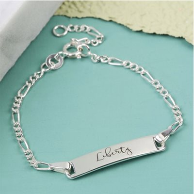 PERSONALISED CHILDREN'S STERLING SILVER IDENTITY BRACELET