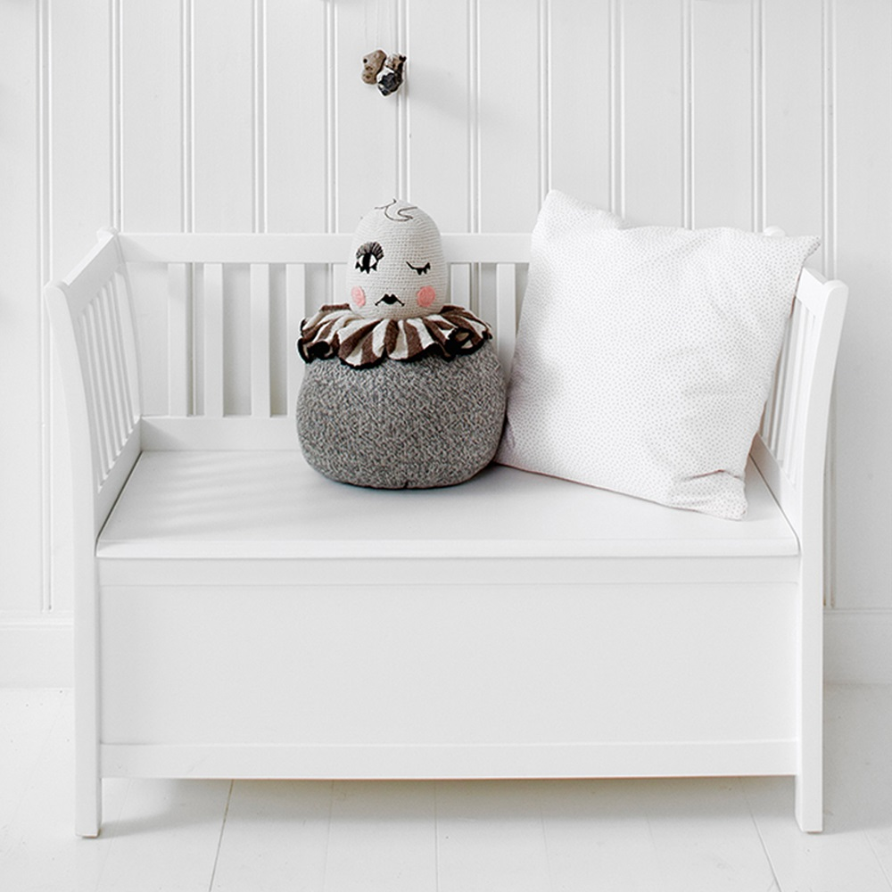 Kids Luxury Storage Bench In White Kids Furniture Cuckooland
