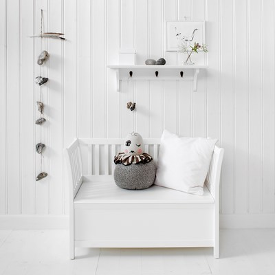 ... Childrens Storage Bench White ...