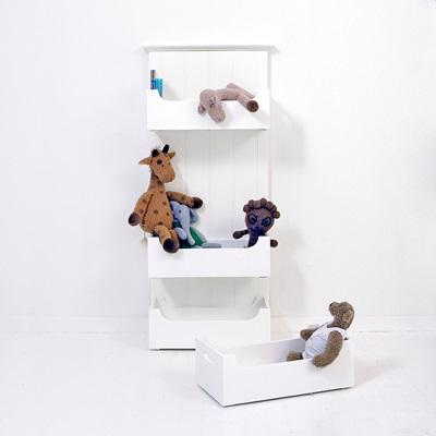 CHILDREN'S TOY BOX STORAGE MODULE in White