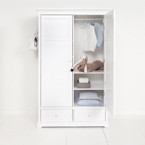 Children's Luxury 2 Door Wardrobe in White