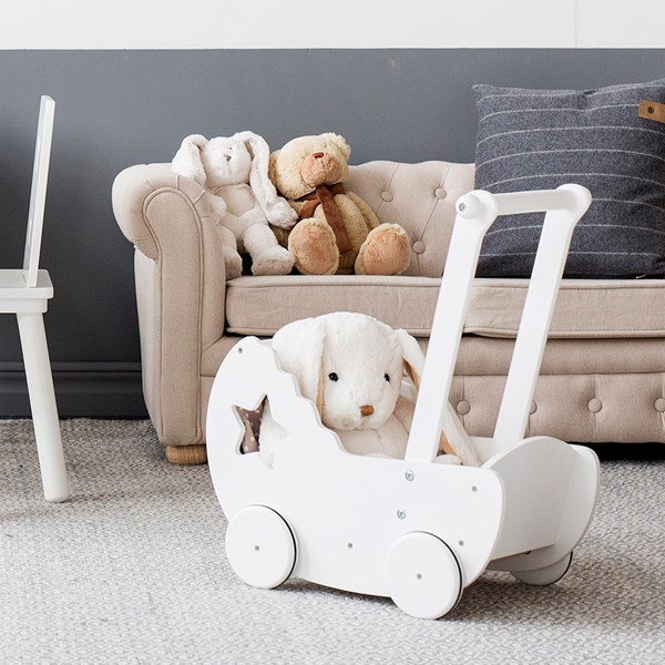 Kids Wooden Stroller Toy with Handle