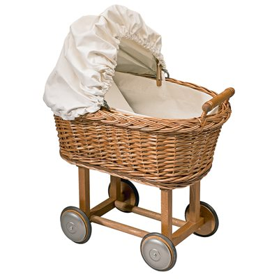 MOULIN ROTY CHILDRENS WICKER PRAM