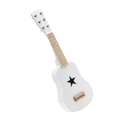 Children's Wooden Toy Guitar in White