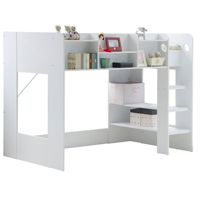 KIDS WIZARD HIGH SLEEPER BED in White