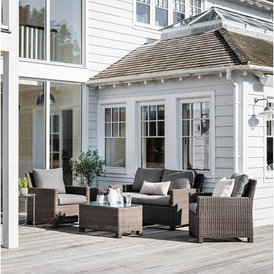 GARDEN TRADING CHILGROVE OUTDOOR SOFA SET in PE Rattan