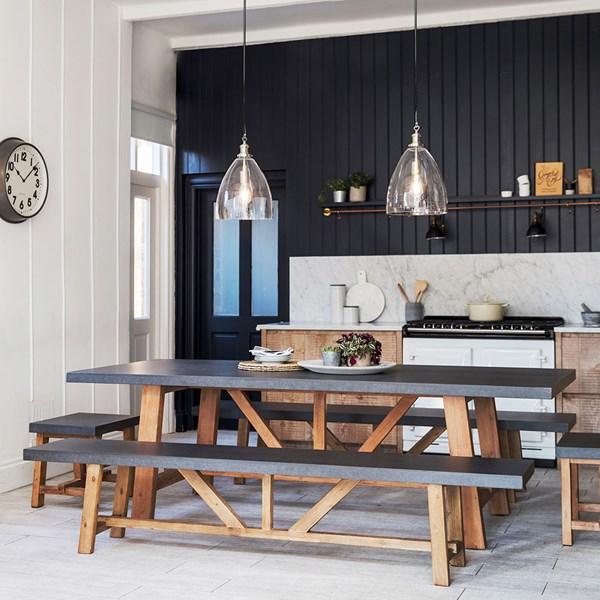 Contemporary Concrete Dining Set from Garden Trading