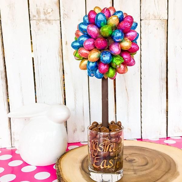 Personalised Chocolate Foil Mini Egg Chocolate Sweet Tree