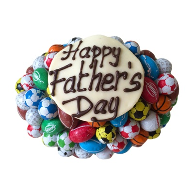PERSONALISED CHOCOLATE RUGBY BALL for Father's Day