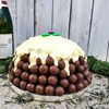 Chocolate Christmas Pudding with Maltesers and Terrys Chocolate Orange