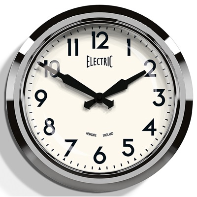Newgate 50's Chrome Retro Wall Clock