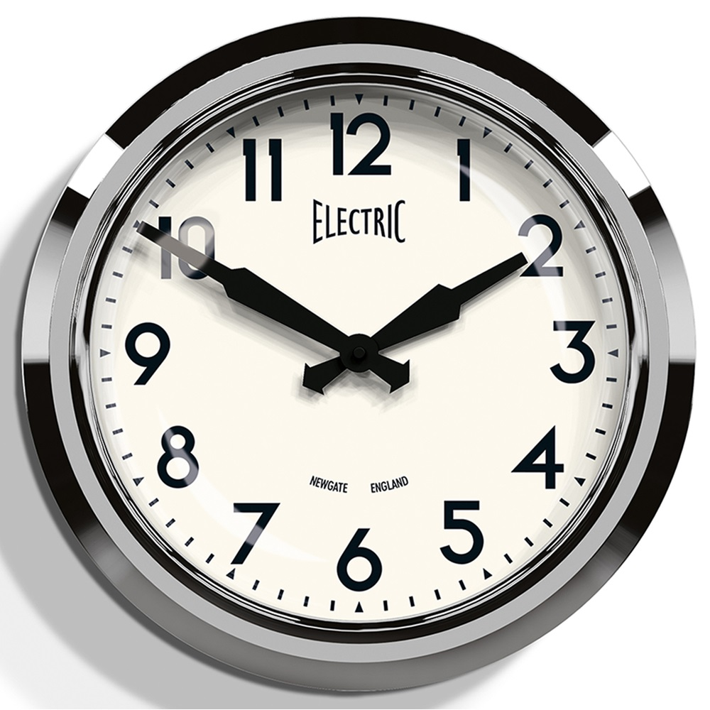 's chrome wall clock  wall clocks  cuckooland - chromeretrowallclocksanalogueuk