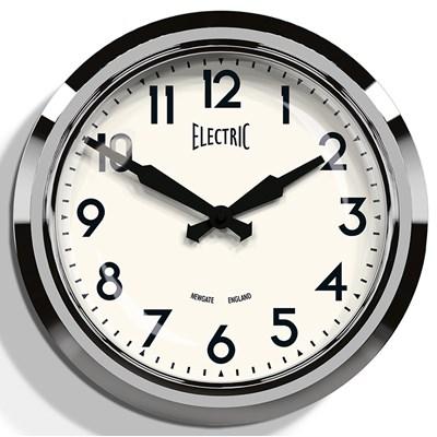 50u0026#39;s Chrome Wall Clock - Wall Clocks : Cuckooland