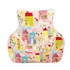 Childrens Bean Chair in Pink Happy Houses Design