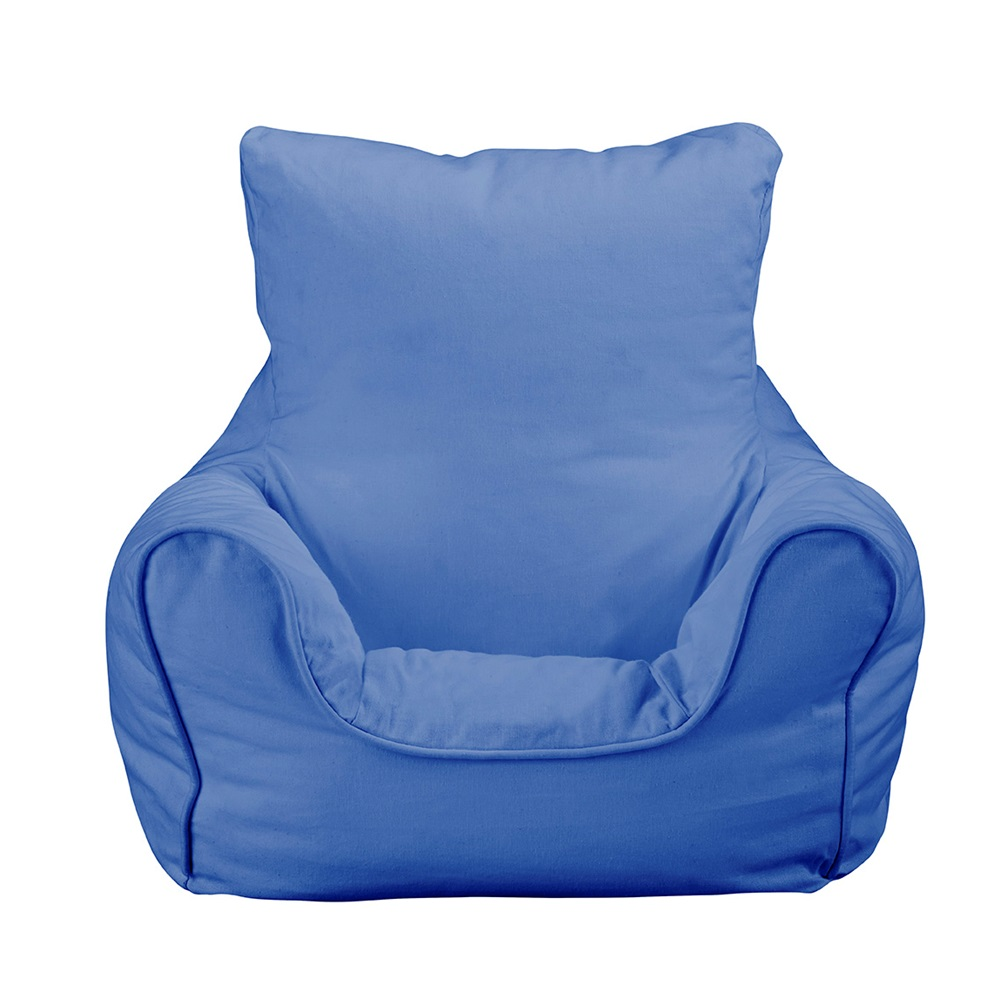 Churchfield Bean Bag Chair Plain Blue Jpg
