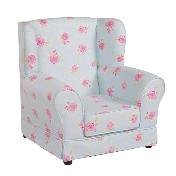 Kids High Back Chair with Floral Design