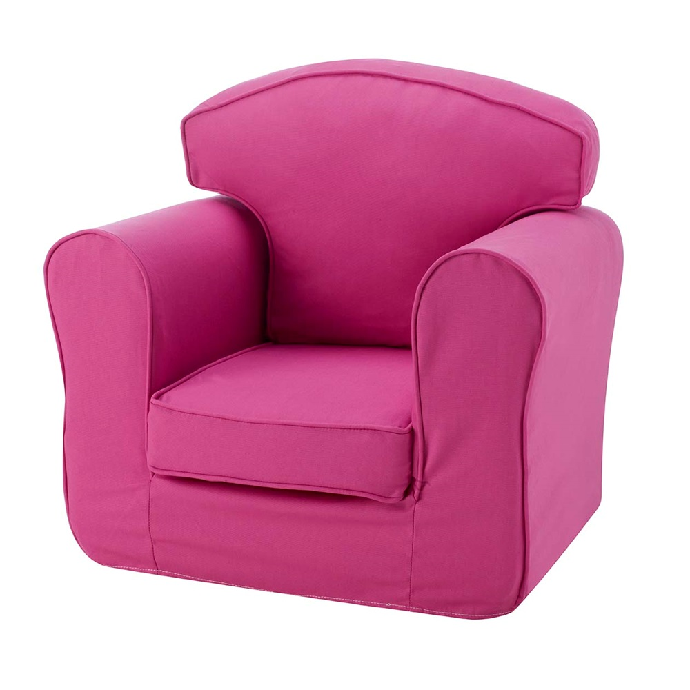 Childrens arm chair in pink kids furniture cuckooland for Pink kids chair