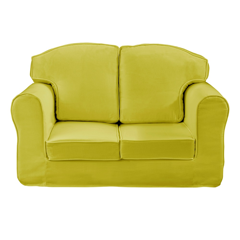 Childrens Loose Cover Sofa In Green Kids Sofas Cuckooland