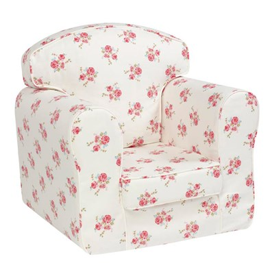 Churchfield Rose Natural Loose Cover Chair ...
