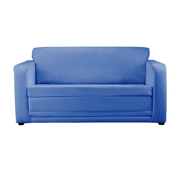 Childrens Sofa Bed in Plain Blue Design