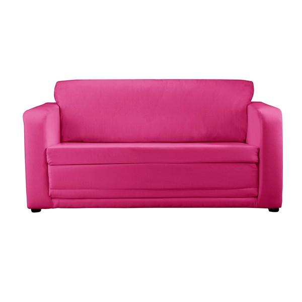 Childrens Folding Sofa Bed in Pink