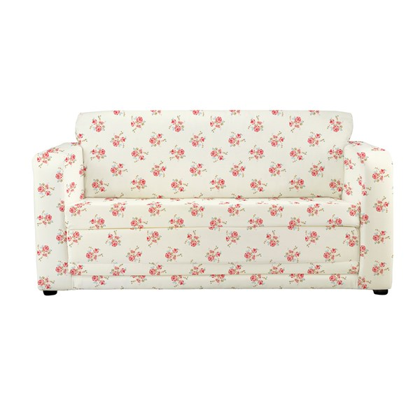 Childrens Folding Sofa Bed in Rose Print