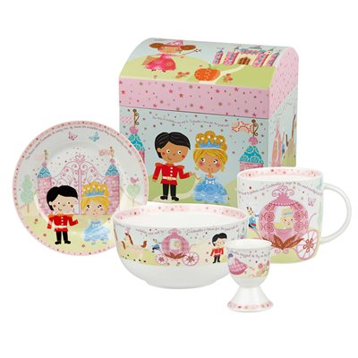 CINDERELLA 4 PIECE CHINA BREAKFAST SET with Gift Box