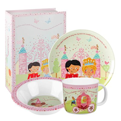 CINDERELLA MELAMINE DINNER SET with Gift Box