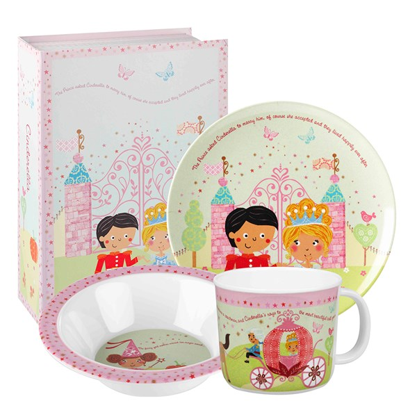 Cinderella Melamine Dinner Set in Gift Box