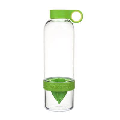 CITRUS ZINGER DRINKS BOTTLE with Juice Infuser in Green