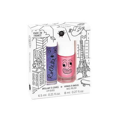 NAILMATIC KIDS WASH OFF NAIL VARNISH & LIP GLOSS SET - LOVELY CITY