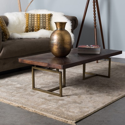 CLASS COFFEE TABLE in Retro Herringbone Design