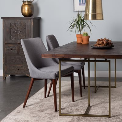 DUTCHBONE CLASS DINING TABLE in Retro Herringbone Design