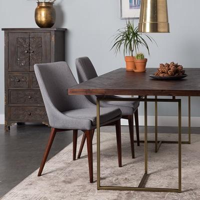 CLASS DINING TABLE in Retro Herringbone Design