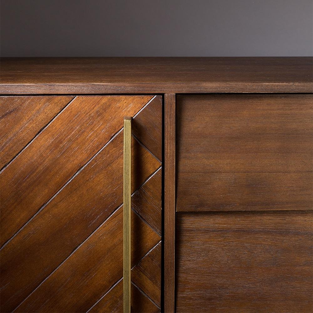 Class Sideboard In Retro Herringbone Design Cabinets