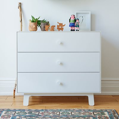 Oeuf Sparrow 3 Drawer Dresser in White