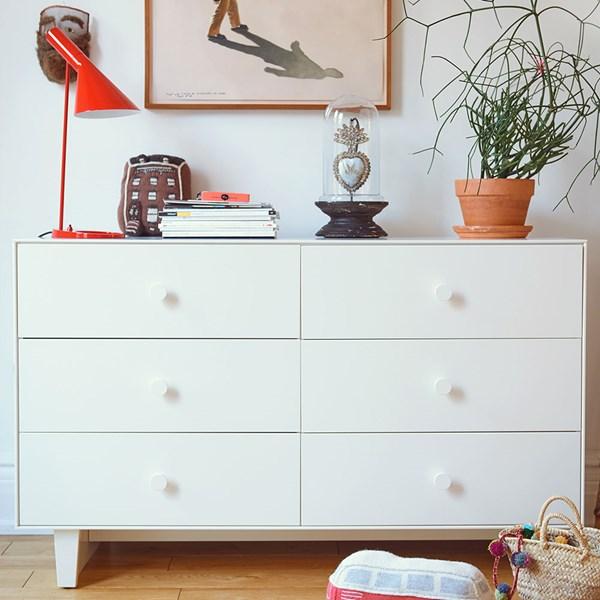 Oeuf Rhea 6 Drawer Dresser in White