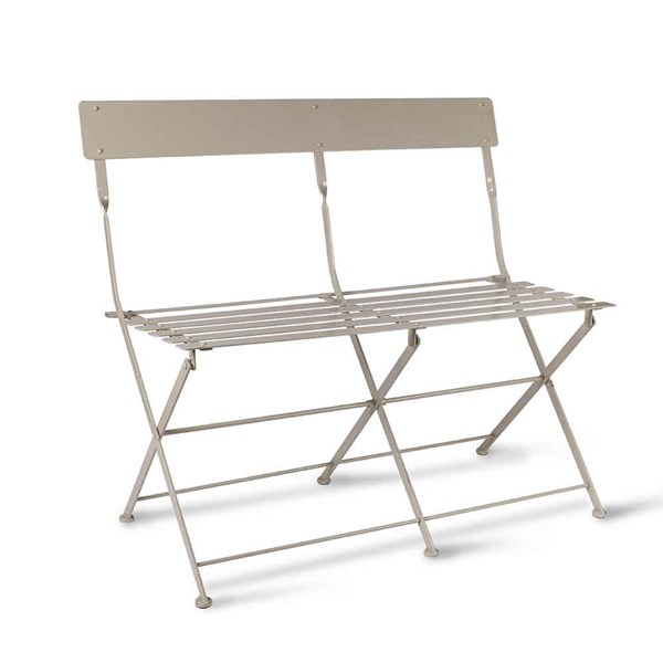 Garden Trading Folding Bistro Bench in Clay