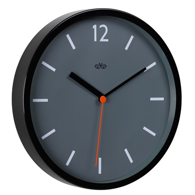 Retro Style Wall Clock In Concrete Grey
