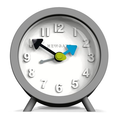 NEWGATE FRED Retro Alarm Clock in Grey