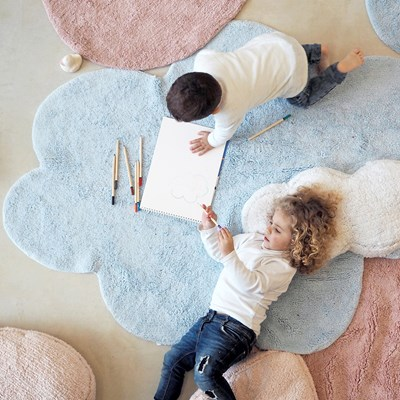 Cloud And Heart Shaped Bedroom Rugs ...