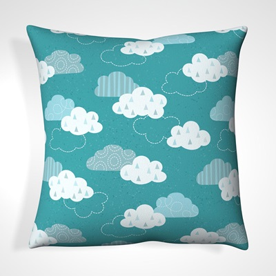 CUSHION in Cloudy Sky Design