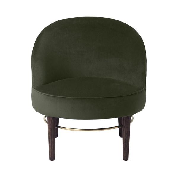 Club Upholstered Velvet Lounge Chair