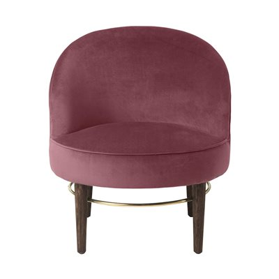 Cozy Living Club Upholstered Velvet Lounge Chair in Rouge