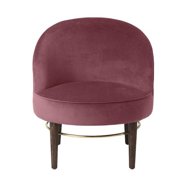 Club Upholstered Velvet Lounge Chair in Rouge