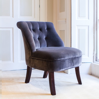 VELVET Occasional Tub Chair in Cocoa