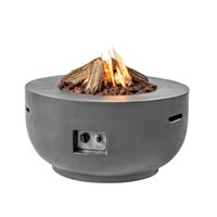 BOWL COCOON GAS FIRE PIT in Grey
